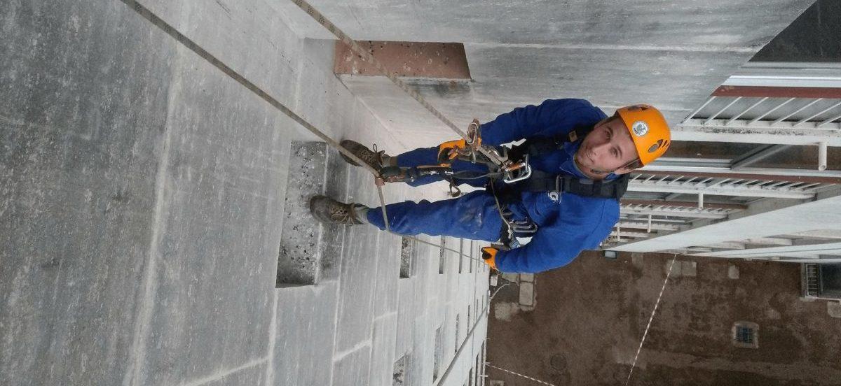 travaux sur corde bâtiment